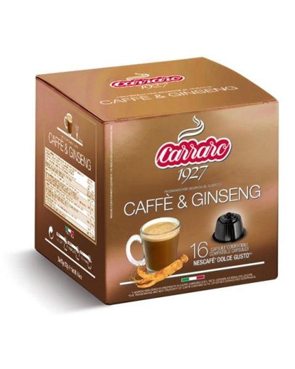 Caffè & Ginseng, Caffe Carraro, Dolce Gusto, kapsule, kapsule za kavo, kava, kava v pisarni, kavne kapsule, kavni aparat, kavni avtomati, Kompatibilne kapsule, Barcaffe DOT