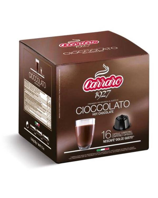 Caffe Carraro, Cioccolato, Čokolada, Dolce Gusto, kapsule, kapsule za kavo, kava, kava v pisarni, kavne kapsule, kavni aparat, kavni avtomati, Kompatibilne kapsule, Vroča čokolada, Barcaffe DOT