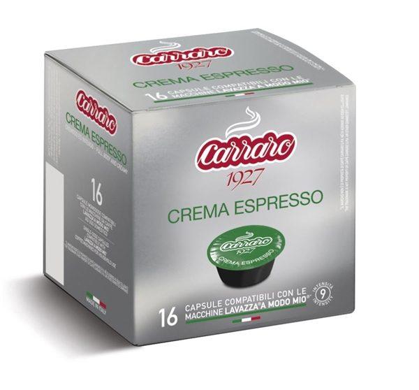 A Modo Mio, Caffe Carraro, Crema Espresso, kapsule, kapsule za kavo, kavne kapsule, Kompatibilne kapsule, Lavazza Modo Mio