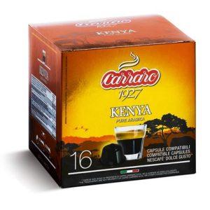 100% Arabica, Arabica, Caffe Carraro, Dolce Gusto, kapsule, kapsule za kavo, kavne kapsule, Kompatibilne kapsule, Single Origin Kenya, Barcaffe DOT