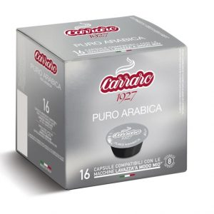 100% Arabica, A Modo Mio, Caffe Carraro, kapsule, kapsule za kavo, kavne kapsule, Kompatibilne kapsule, Lavazza Modo Mio, Puro Arabica
